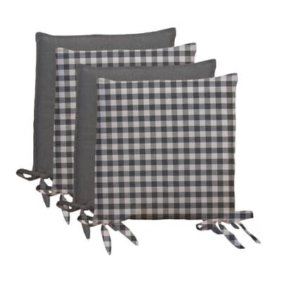 Cuscino per sedia Quadri grigio 40x40 cm prezzi e offerte