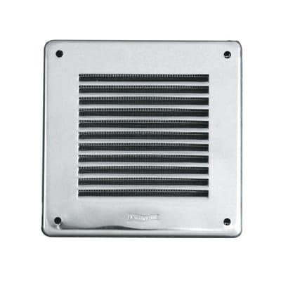 Griglia di aerazione in acciaio forma quadrato L 14 x H 14 cm