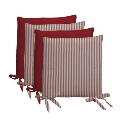 Cuscino per sedia Riga rosso 40x40 cm prezzi e offerte
