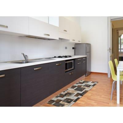 Tappeto Cucina antiscivolo Full nodo marrone 180x55 cm