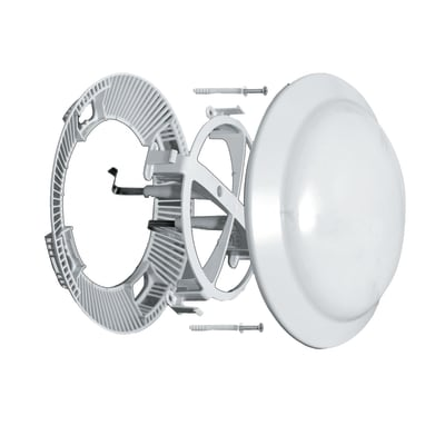 Riduttore acustico per fori di ventilazione in abs forma tondo Ø 23 cm
