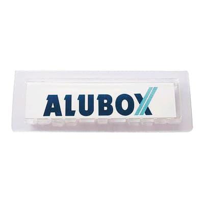Porta-etichetta ALUBOX in plastica abs L 7 x H 2.5 cm