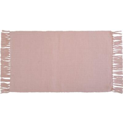 Tappeto Basic in cotone, rosa, 50x80 cm