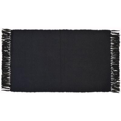Tappeto Basic in cotone, nero, 50x80 cm