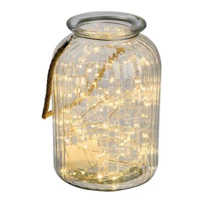 Decorazione luminosa 120 lampadine led bianco caldo H 26.5 x L 18 cm