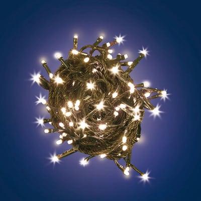Catena luminosa 180 lampadine LED bianco caldo 950 cm