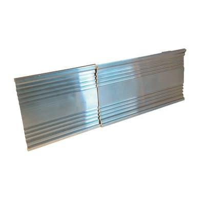 Profilo in alluminio 1 2 m x 120 cm grigio prezzi e for Profilo alluminio led leroy merlin