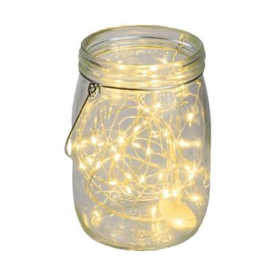 Barattolo 40 lampadine bianco caldo H 15.5 cm