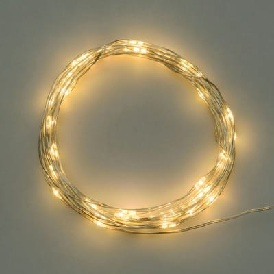 Catena luminosa 40 lampadine LED bianco caldo 0.1 m