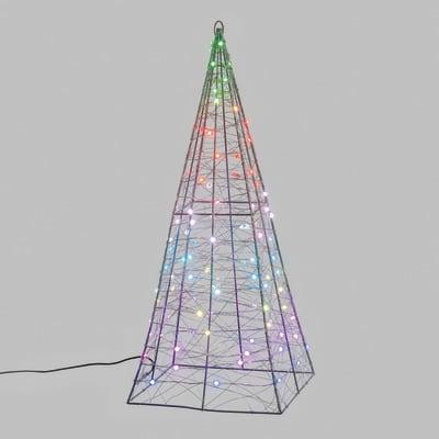 Piramide 100 lampadine H 60 cm