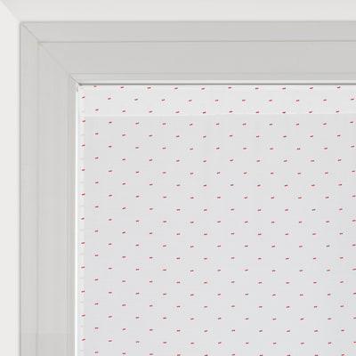 Tendina vetro Anika bianco e rosso tunnel 60 x 150 cm