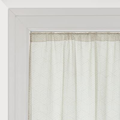 Tendina vetro Astrid bianco tunnel 60 x 150 cm