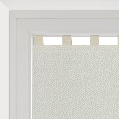 Tendina vetro Chicco ecru passanti nascosti 58x160 cm