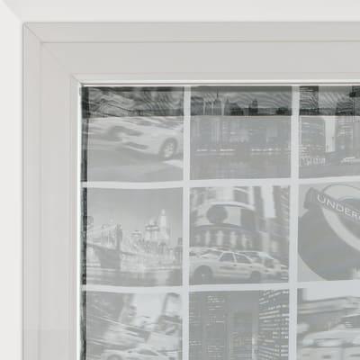 Tendina vetro City grigio tunnel 60 x 120 cm