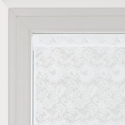 Tendina a vetro regolabile Cleopatra bianco tunnel 60 x 150 cm