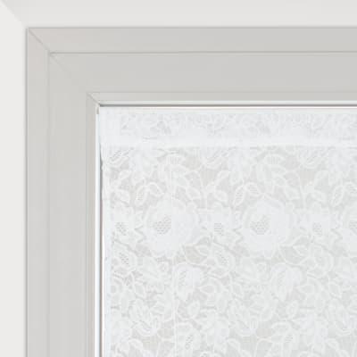 Tendina a vetro regolabile Cleopatra bianco tunnel 60 x 230 cm