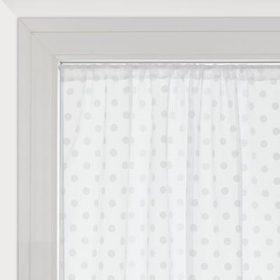 Tendina vetro Elsa bianco tunnel 100 x 240 cm