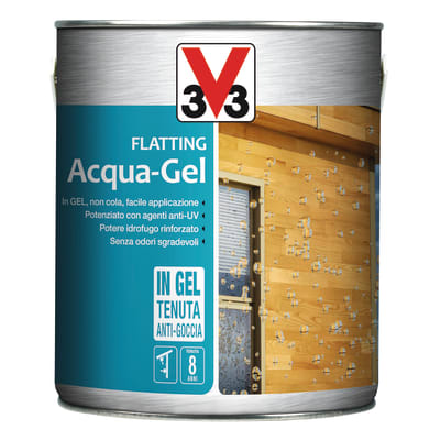 Flatting liquido V33 Acqua-Gel 2.5 L incolore lucido
