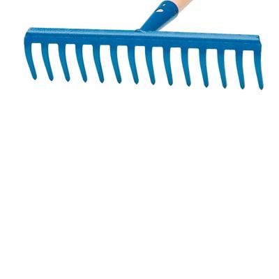 Rastrello in acciaio 16 denti senza manico 40 cm