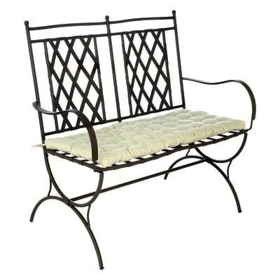 Panchina con cuscino 2 posti in ferro Maroc colore nero