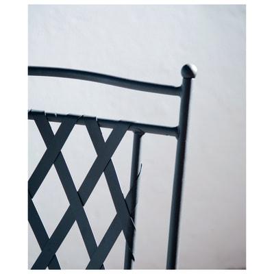 Panca Maroc in ferro colore nero 2 posti