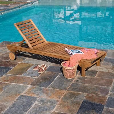 Sedia a sdraio naterial sun lounger in legno marrone for Sdraio leroy merlin prezzi
