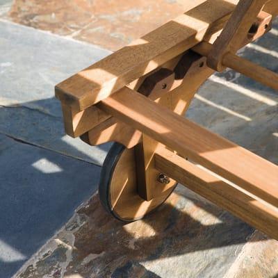 Sedia a sdraio NATERIAL Sun Lounger in legno marrone