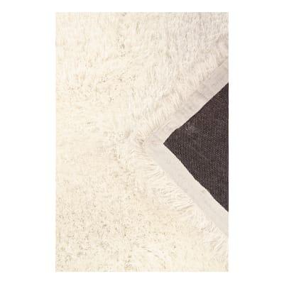 Tappeto Shaggy enzo lurex bianco 200x140 cm