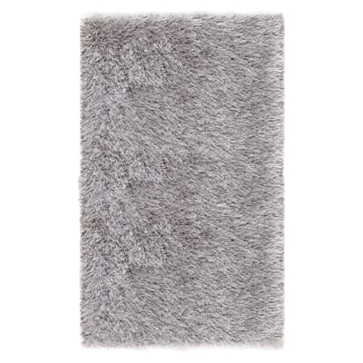 Tappeto Shaggy Enzo lurex argento 80x150 cm