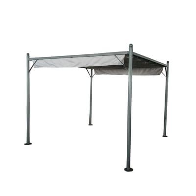Pergola acciaio Montecarlo grigio L 300 cm x P 300 cm, H 2.4 m
