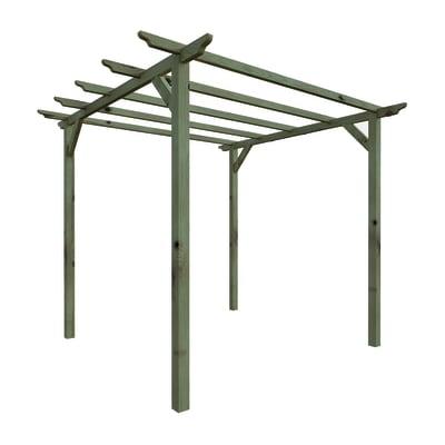 Pergola Basic in legno naturale L 300 x P 300 x, H 240 cm