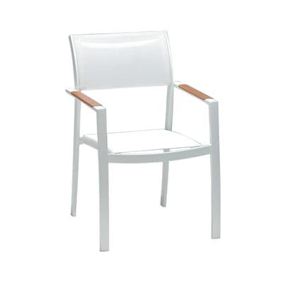 Sedia in alluminio Torres colore bianco