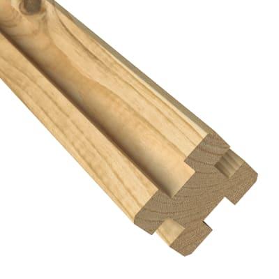 Palo in legno Eagle quadrato H 125 cm L 7 x 7 cm