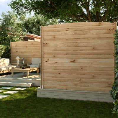 Palo in legno multifunzione Classic L 7 x P 7 x H 200 cm