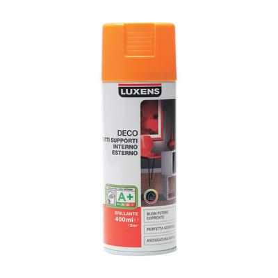 Smalto spray LUXENS Deco arancio lucido 0.0075 L