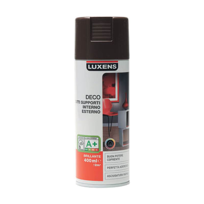 Smalto spray LUXENS Deco marrone cioccolato lucido 0.0075 L