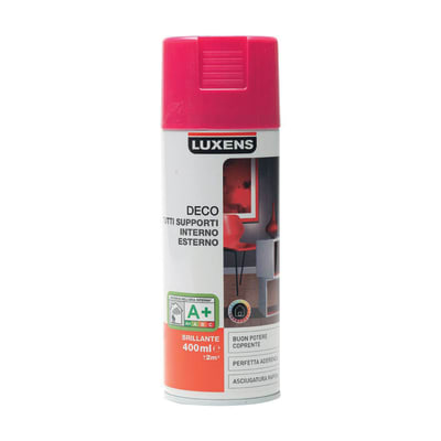 Smalto spray LUXENS Deco rosa shocking lucido 0.0075 L