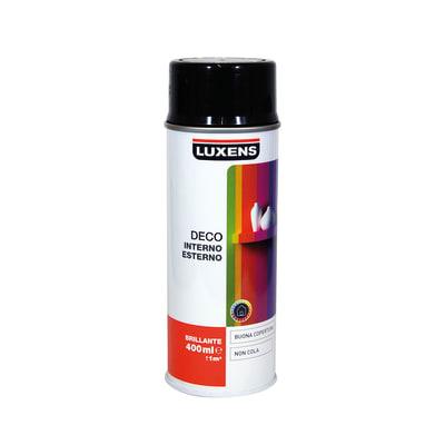 Smalto spray LUXENS Deco nero lucido 0.0075 L