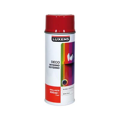 Smalto spray LUXENS Deco rosso fluo lucido 0.0075 L