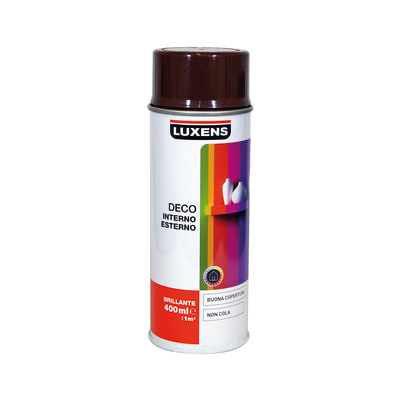 Smalto spray LUXENS Deco marrone cioccolato lucido 0.0075 L