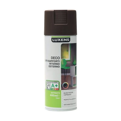 Smalto spray LUXENS Deco marrone cioccolato satinato 0.0075 L