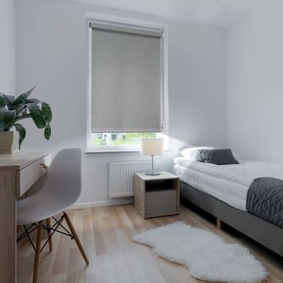 Tenda a rullo Ancona oscurante grigio 180x250 cm