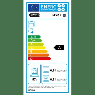 Forno Elettrico multifunzione ventilato 6 funzioni DE LONGHI NFMA 6