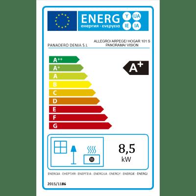 Stufa a legna Allegro Ecodesign 9 kW nero
