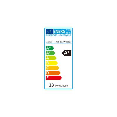 Lampadina LED E27 standard bianco caldo 23W = 2452LM (equiv 150W) 150° LEXMAN