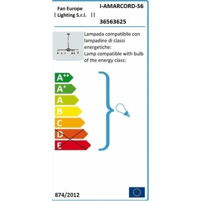 Lampadario Amarcord ruggine, in metallo, diam. 72 cm, E27 6xMAX42W IP20