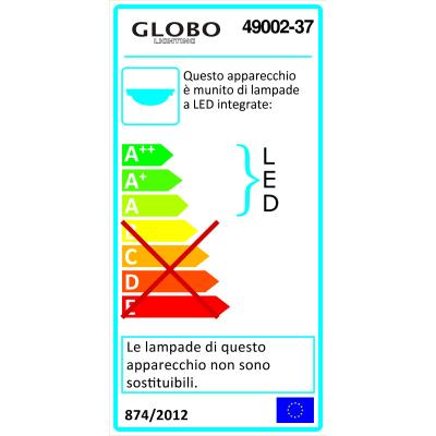 Plafoniera Mio nichel, in metallo, diam. 50 cm, LED integrato MAX37W IP20