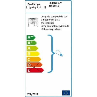 Applique Breeze trasparente, in plastica, 25 cm, E14 MAX28W IP20