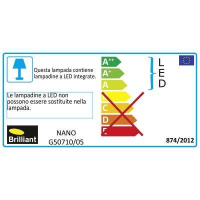 Faretto singolo Nano bianco, in plastica, LED integrato 4W 350LM IP20 BRILLIANT