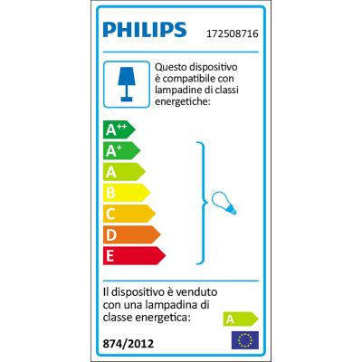 Applique Starry in plastica, grigio, E27 20W IP44 PHILIPS